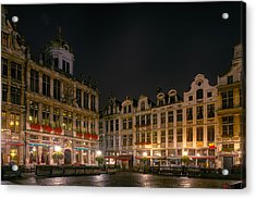 Grote Markt Brussels Acrylic Print by Joan Carroll