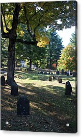 Groton Cemetery 1 Acrylic Print by Mary Bedy