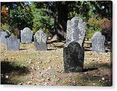 Groton Cemetery 5 Acrylic Print by Mary Bedy