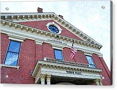Groton Ma Town Hall 2 Acrylic Print