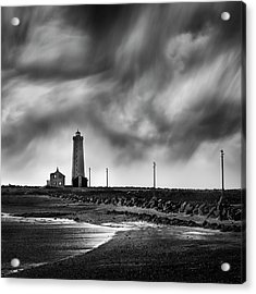 Grotta Lighthouse Acrylic Print by George Digalakis