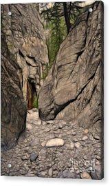 Grotto Canyon Fractal Acrylic Print