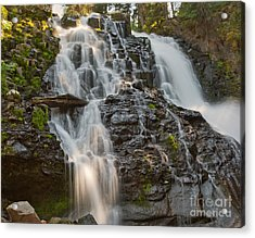 Grotto Falls Acrylic Print by Charles Kozierok