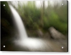 Grotto Falls On The Trillium Gap Trail Acrylic Print by Phil Schermeister