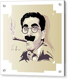 Groucho Marx Acrylic Print by Lina Garzon
