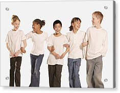 Group Of Children Acrylic Print by Don Hammond
