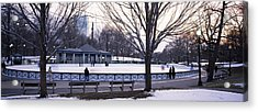Group Of People In A Public Park, Frog Acrylic Print by Panoramic Images