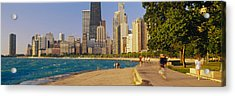 Group Of People Jogging, Chicago Acrylic Print