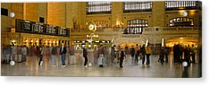 Group Of People Walking In A Station Acrylic Print by Panoramic Images