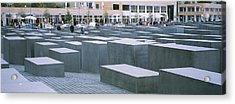 Group Of People Walking Near Memorials Acrylic Print by Panoramic Images