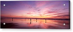 Group Of People Watching The Sunset Acrylic Print