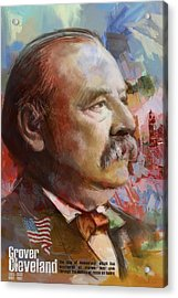 Grover Cleveland Acrylic Print by Corporate Art Task Force