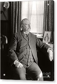 Acrylic Print featuring the photograph Grover Cleveland 1905 by Martin Konopacki Restoration