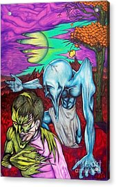 Acrylic Print featuring the drawing Growing Evils by Michael  TMAD Finney