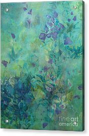 Acrylic Print featuring the painting Growing Wild Ix by Elis Cooke