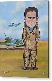 Acrylic Print featuring the painting Grp. Capt. Douglas Bader by Murray McLeod