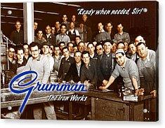 Grumman Iron Works Shop Workers Acrylic Print