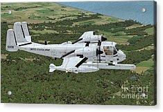 Grumman Ov-1 Mohawk Acrylic Print by Walter Colvin