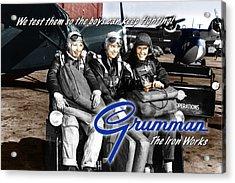 Grumman Test Pilots Acrylic Print