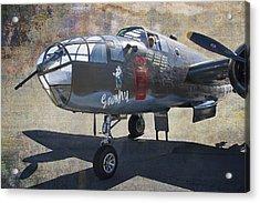 Grumpy  B-25 D Mitchell Bomber  /  43-3318 Acrylic Print by Daniel Hagerman