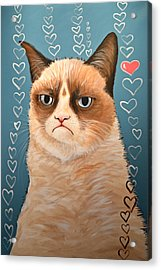 Grumpy Cat Art ... Love You Acrylic Print