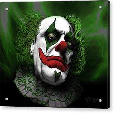 Acrylic Print featuring the digital art Grumpy Green Meanie by Jeremy Martinson