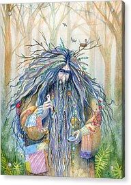 Grumpy Troll Acrylic Print by Sara Burrier