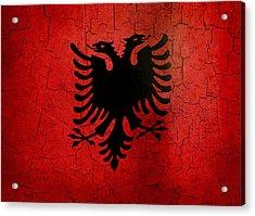 Grunge Albania Flag Acrylic Print