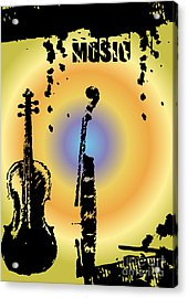 Grunge Background Vector Acrylic Print