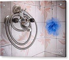 Grunge Bathroom Acrylic Print by Sinisa Botas