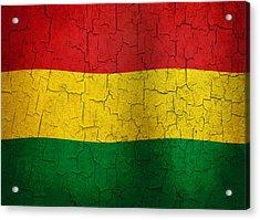 Grunge Bolivia Flag Acrylic Print