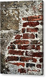 Grunge Brick Wall Acrylic Print by Elena Elisseeva