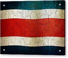 Grunge Costa Rica Flag Acrylic Print
