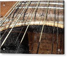 Grunge Guitar Acrylic Print