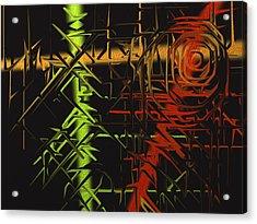 Grunge Acrylic Print by Michael Jordan