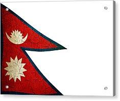 Grunge Nepal Flag Acrylic Print