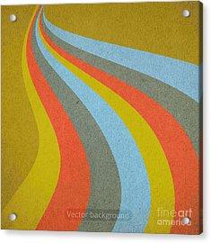 Grunge Retro Vector Background Acrylic Print by Leksustuss