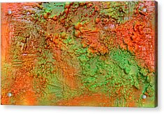 Orange Abstract New Media  Acrylic Print
