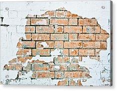 Grungy Wall Acrylic Print by Tom Gowanlock