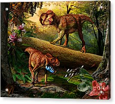 Gryphoceratops And Unescoceratops Acrylic Print