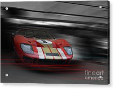 Gt40 Red Acrylic Print by Roger Lighterness