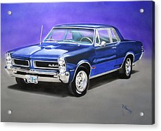 Acrylic Print featuring the painting Gto 1965 by Thomas J Herring