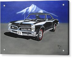 Acrylic Print featuring the painting Gto 1967 by Thomas J Herring