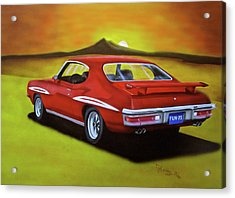 Acrylic Print featuring the painting Gto 1971 by Thomas J Herring