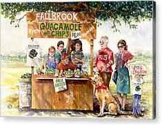 Guacamole And Chips Acrylic Print