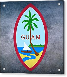 Guam Territory Seal Acrylic Print by Movie Poster Prints