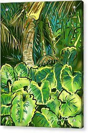 Acrylic Print featuring the painting Guanabana Tropical by Jean Pacheco Ravinski