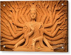 Guanyin Bodhisattva Acrylic Print by Dean Harte