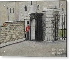 Guard At Windsor Castle Acrylic Print