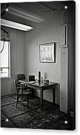 Guard Dining Area In Alcatraz Prison Acrylic Print by RicardMN Photography